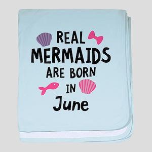 Mermaids are born in June C1757 baby blanket