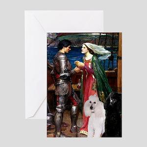 Tristan / 2 Poodles(b&w) Greeting Card
