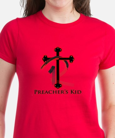 PK Cross (Red/Blk) Logo Women's Dark T-Shirt