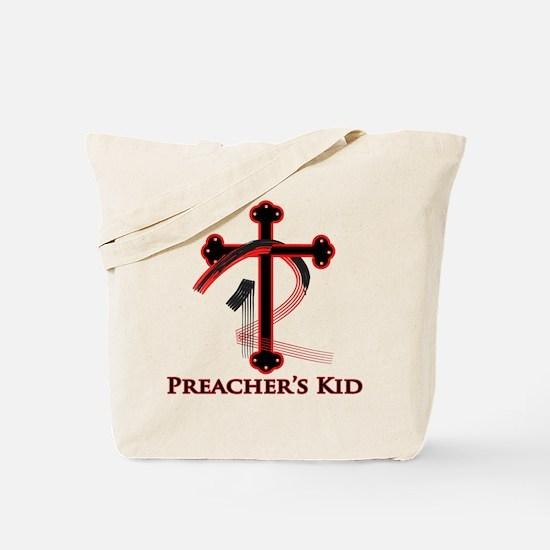 PK Cross (Red/Blk) Logo Tote Bag