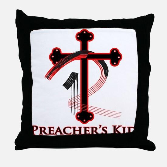 PK Cross (Red/Blk) Logo Throw Pillow