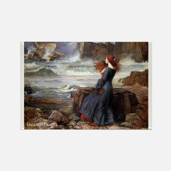 Waterhouse Miranda Tempest ar Rectangle Magnet