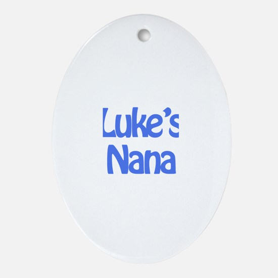 Luke's Nana  Oval Ornament