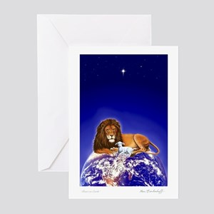 Lion & Lamb 'Christmas Greetings' ~ 20 Pack Cards