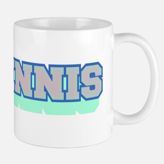 I Love Tennis Light Blue Mug