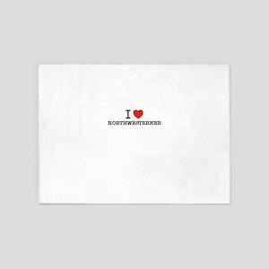 I Love NORTHWESTERNER 5'x7'Area Rug