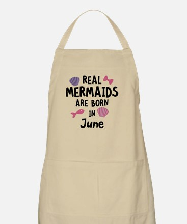 Mermaids are born in June C1757 Light Apron