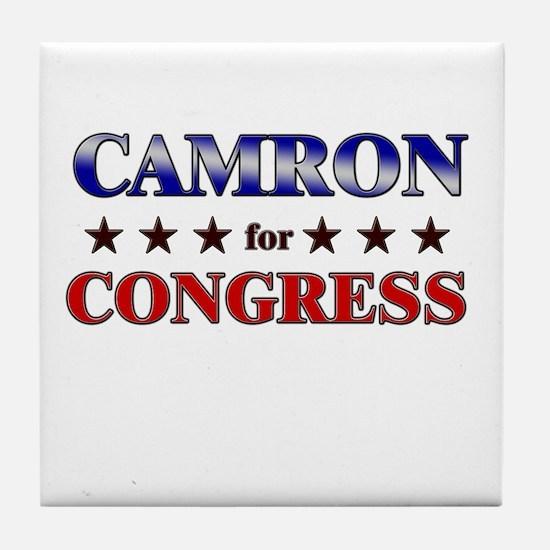 CAMRON for congress Tile Coaster