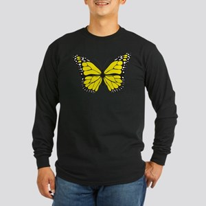 Yellow Butterfly Long Sleeve T-Shirt