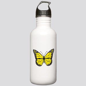 Yellow Butterfly Stainless Water Bottle 1.0L