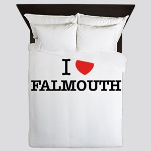 I Love FALMOUTH Queen Duvet