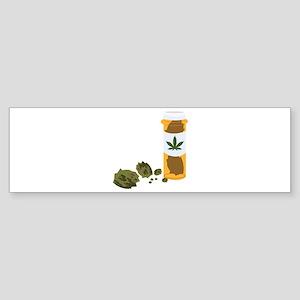 Medical Marijuana Bottle Bumper Sticker