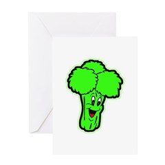 Happy Broccoli Greeting Card