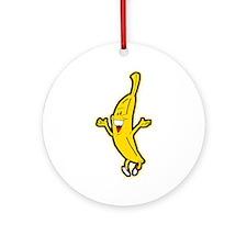 Dancing Banana Ornament (Round)