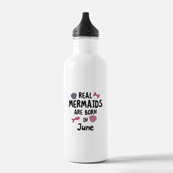 Mermaids are born in J Water Bottle