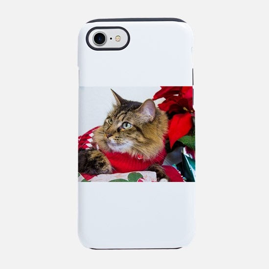 Christmas Cat iPhone 8/7 Tough Case