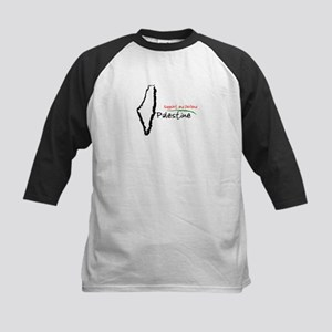 Support and defend palestine Kids Baseball Jersey