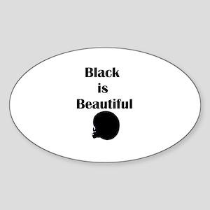 Black is Beautiful Oval Sticker