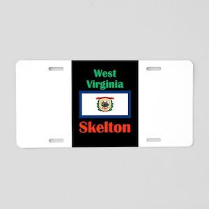 Skelton West Virginia Aluminum License Plate