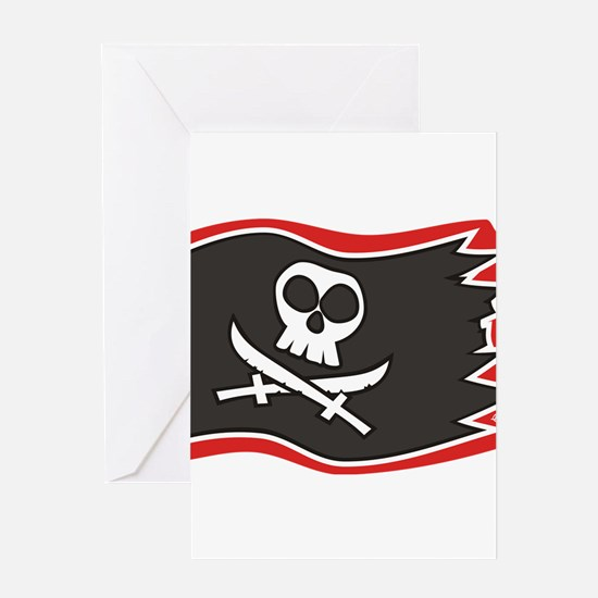 Jolly Roger Flag Greeting Cards