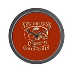 New Orleans Grsi Gris Wall Clock