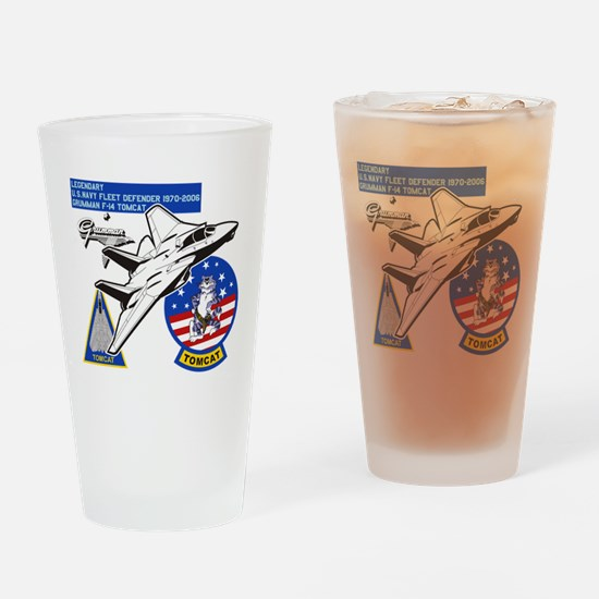 Tomcat Drinking Glass