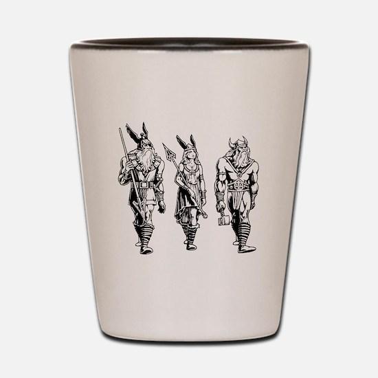 Odin Freyja & Thor Shot Glass