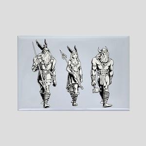 Odin Freyja & Thor Rectangle Magnet