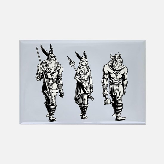Odin Freyja & Thor Rectangle Magnet (10 pack)