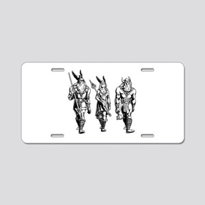 Odin Freyja & Thor Aluminum License Plate