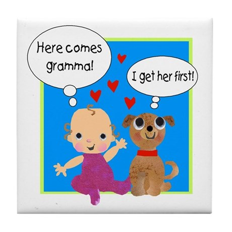 Grandma Love Tile Coaster