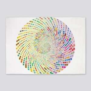Spiral Color 5'x7'Area Rug