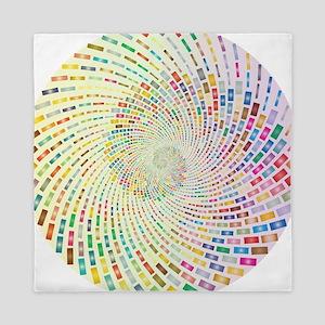 Spiral Color Queen Duvet