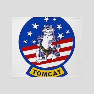 Tomcat Throw Blanket