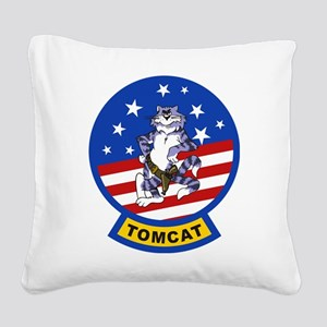 Tomcat Square Canvas Pillow