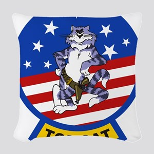 Tomcat Woven Throw Pillow