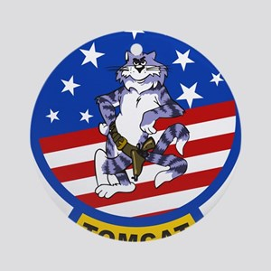 Tomcat Round Ornament