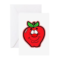 Silly Apple Greeting Card
