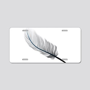Gray Quill Aluminum License Plate