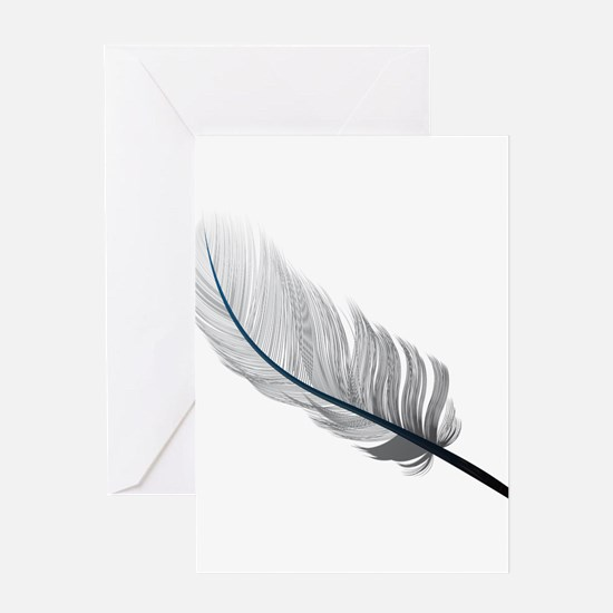 Gray Quill Greeting Cards