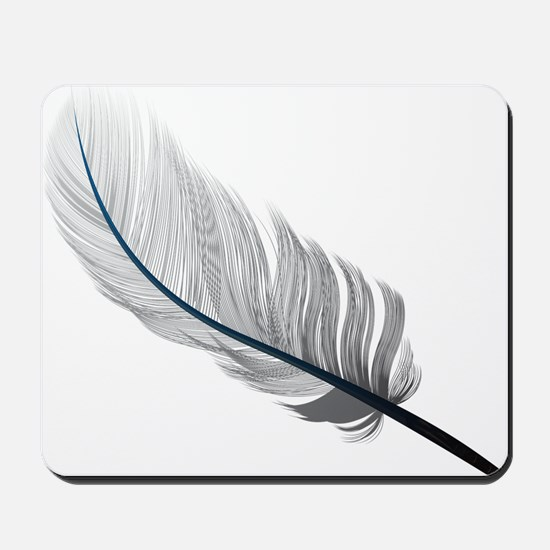 Gray Quill Mousepad