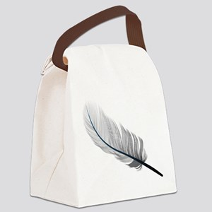Gray Quill Canvas Lunch Bag