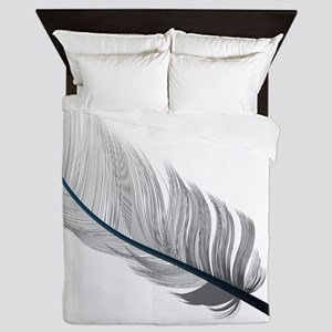 Gray Quill Queen Duvet