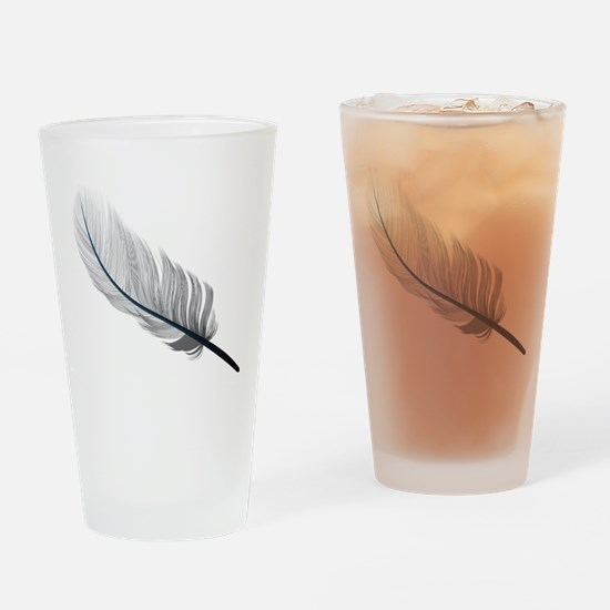 Gray Quill Drinking Glass