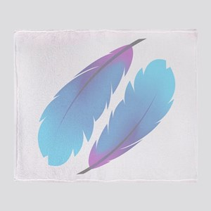 Colorful feathers Throw Blanket