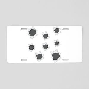 Holes Bullet Aluminum License Plate