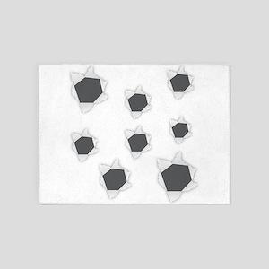 Holes Bullet 5'x7'Area Rug