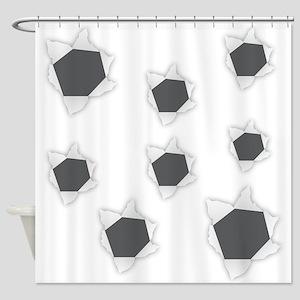 Holes Bullet Shower Curtain