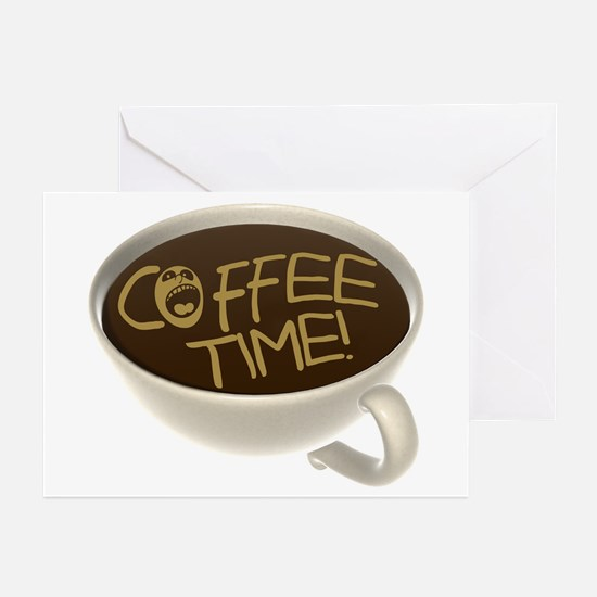 Coffee Time! Coffee Lovers Greeting Cards (Pk of 2