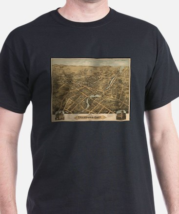 Vintage Pictorial Map of Stamford CT (1875 T-Shirt